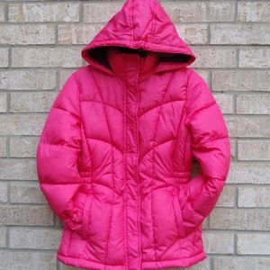 SIZE XL/16.Girls Xersion Hooded Pink Puffer Jacket